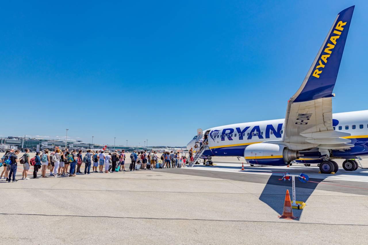 Ryanair keleivių įsodinimas